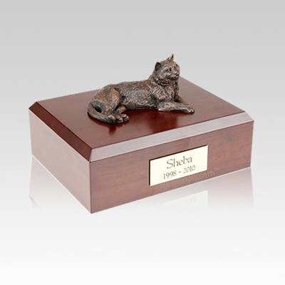 Tabby Bronze Medium Cat Cremation Urn