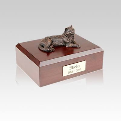 Tabby Bronze Small Cat Cremation Urn