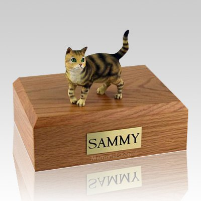 Tabby Brown Standing X Large Cat Cremation Urn
