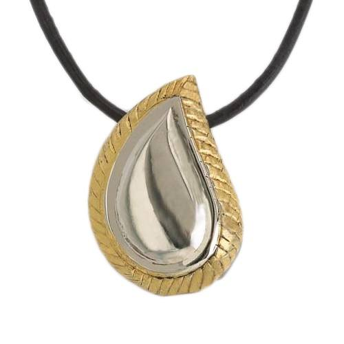 Teardrop Gold Cremation Jewelry