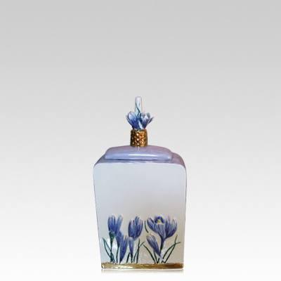 Terrestrial Small Ceramic Cremation Urn