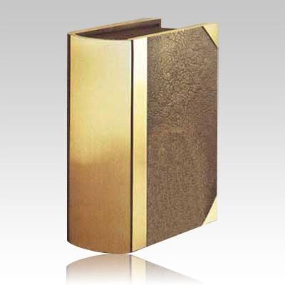 Morocco Book Bronze Companion Cremation Urn