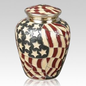 Star Spangled Cremation Urn
