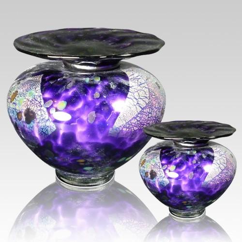 Milano Amethyst Glass Cremation Urns