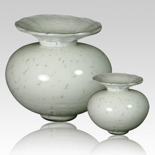 Milano Verdigris Glass Cremation Urns