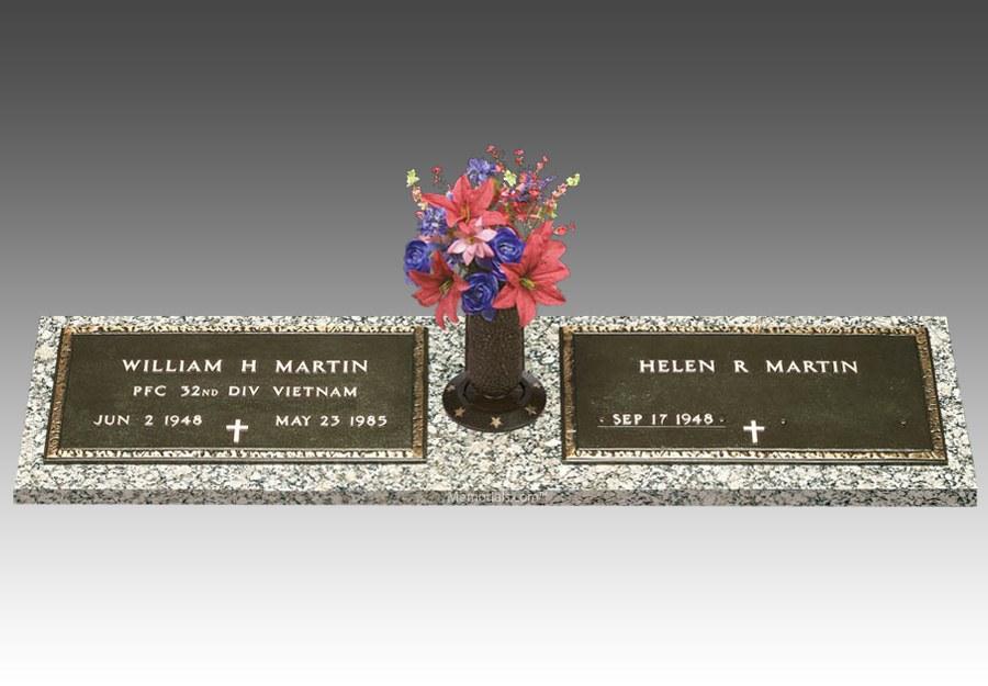 Veteran Bronze Grave Marker For Two II