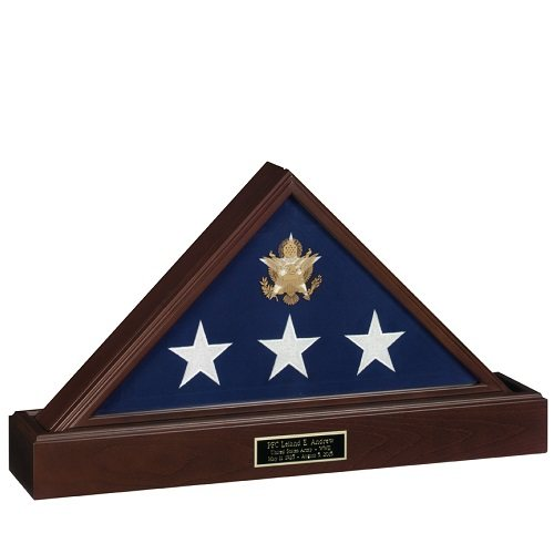 Vice Presidential Flag Case with Pedestal Urn