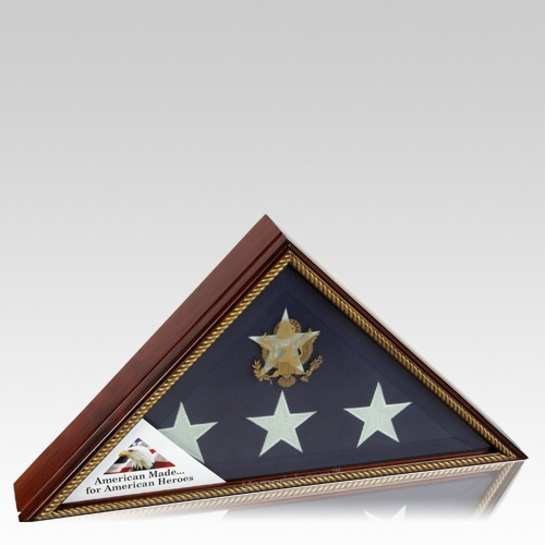 Vice Presidential Gold Flag Display Case