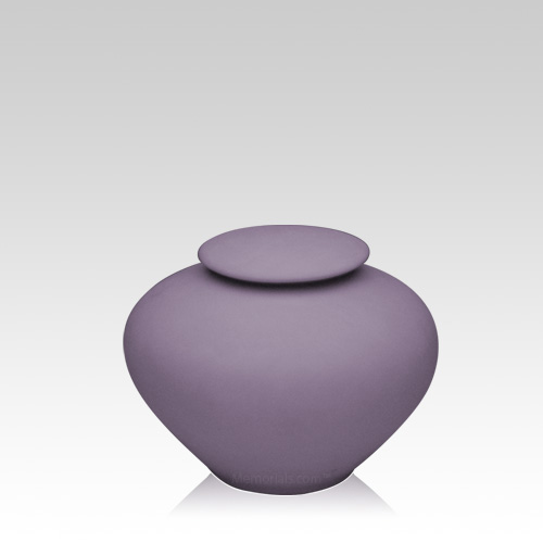 Violet Ray Small Porcelain Clay Urn