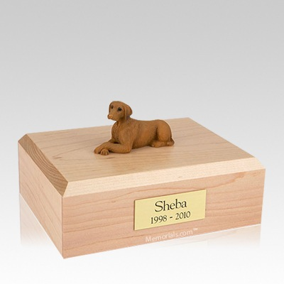 Vizsla Laying Large Dog Urn