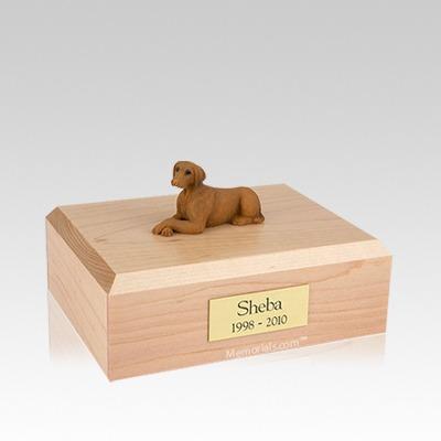 Vizsla Laying Medium Dog Urn