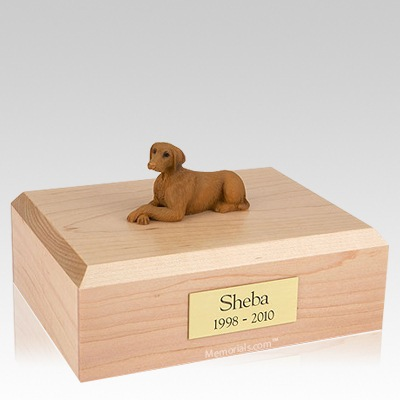 Vizsla Laying X Large Dog Urn