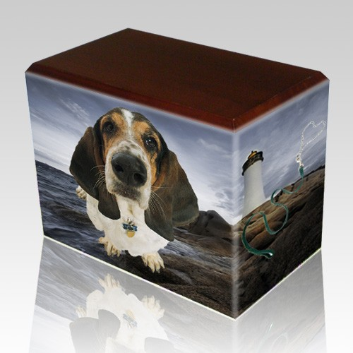 Lighthouse Walnut Pet Picture Urn II
