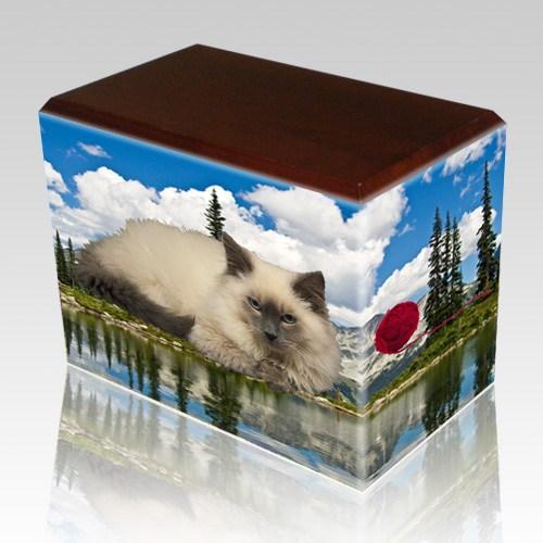 Pine Lake Walnut Pet Picture Urn II
