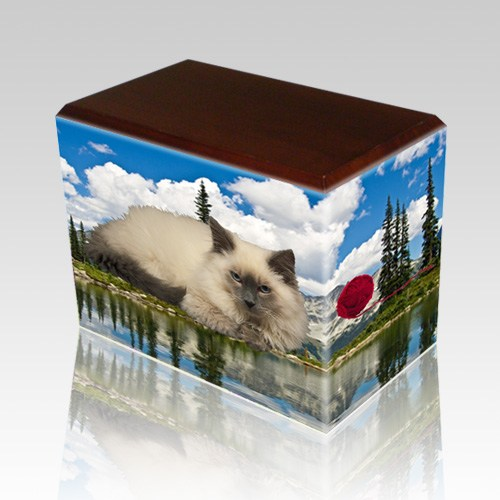 Pine Lake Walnut Pet Picture Urn