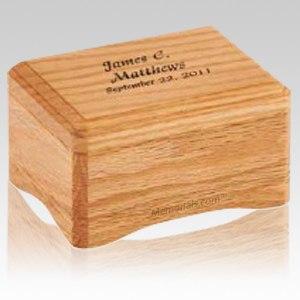 Westhampton Oak Small Wood Cremation Urn