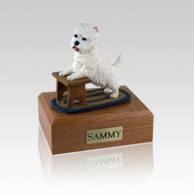 Westie Playing Medium Dog Urn
