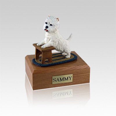Westie Playing Small Dog Urn