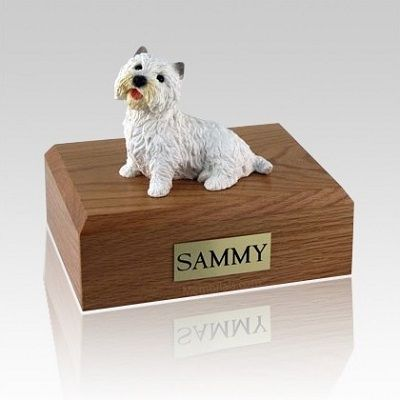 Westie Sitting Large Dog Urn