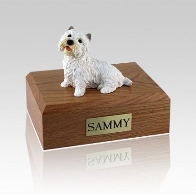 Westie Sitting Medium Dog Urn