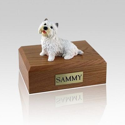 Westie Sitting Small Dog Urn