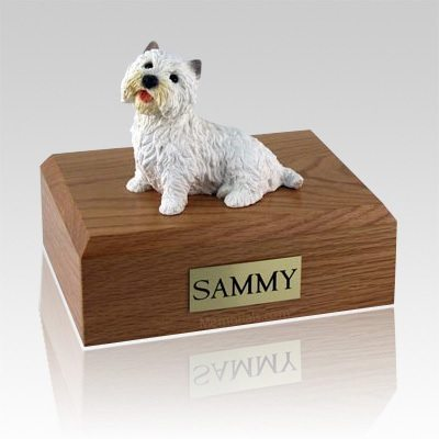 Westie Sitting X Large Dog Urn