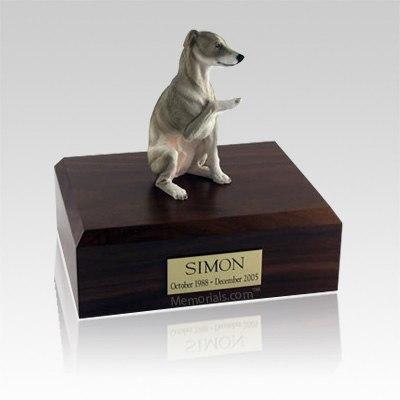 Whippet Gray Large Dog Urn