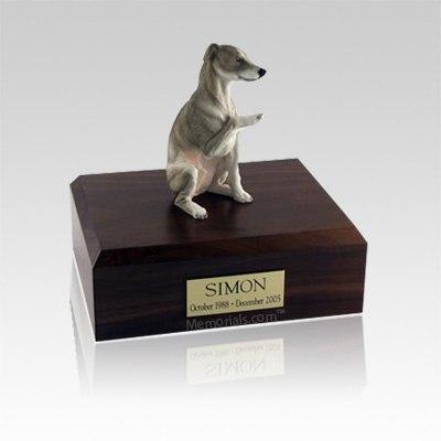Whippet Gray Medium Dog Urn