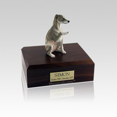 Whippet Gray Small Dog Urn