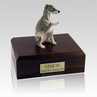 Whippet Gray X Large Dog Urn