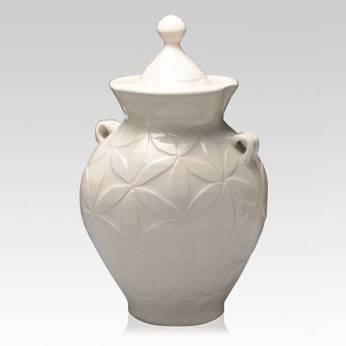 White Dream Large Cremation Urn