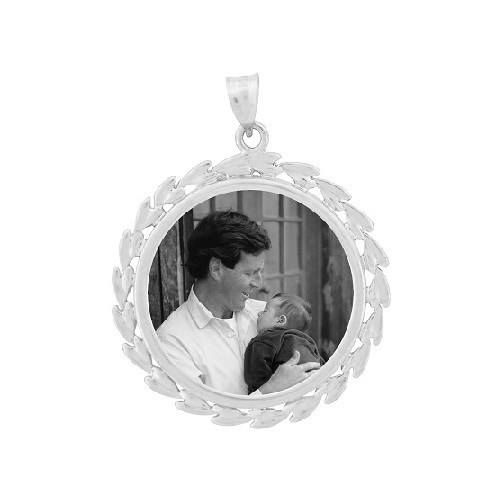 Wreath White Gold Etched Jewelry