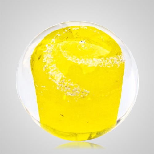 Yellow Cremation Glass Weight
