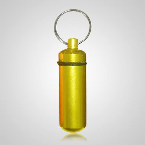 Yellow Cremation Keychain