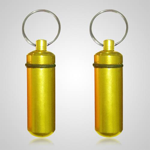 Yellow Cremation Keychains