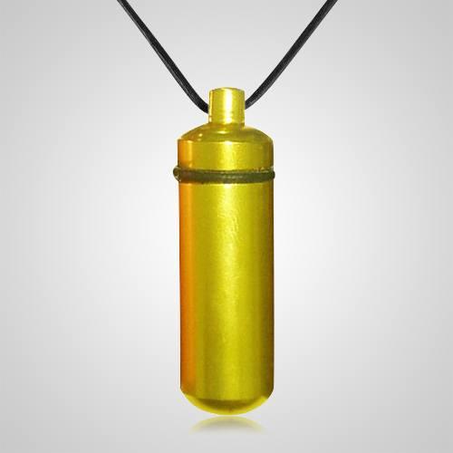 Yellow Cremation Pendant