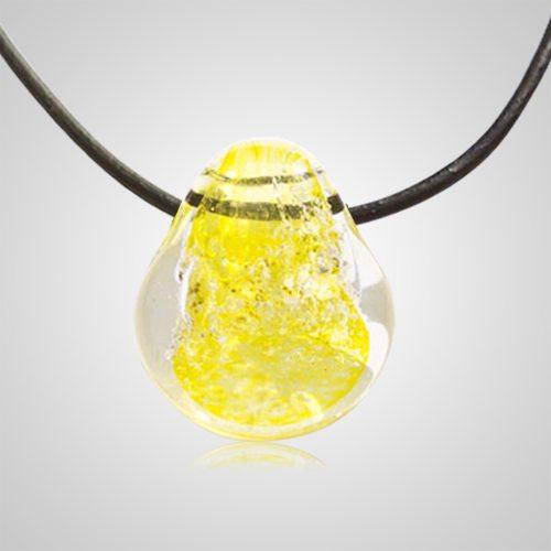 Yellow Memorial Jewelry Pendant