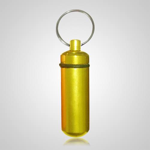 Yellow Pet Keepsake Keychain