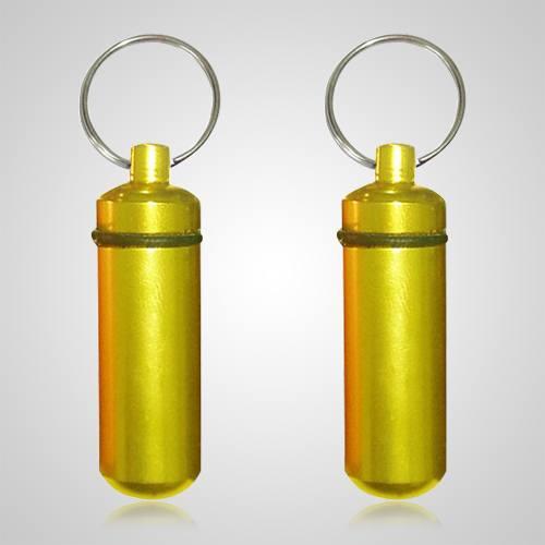 Yellow Pet Keepsake Keychains