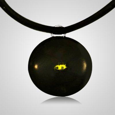 Yellow Spot Cremation Ash Pendant