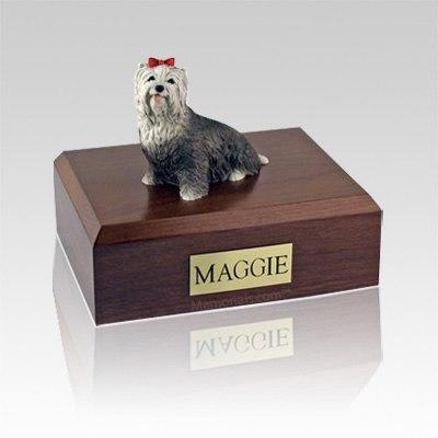 Yorkshire Terrier Gray Medium Dog Urn