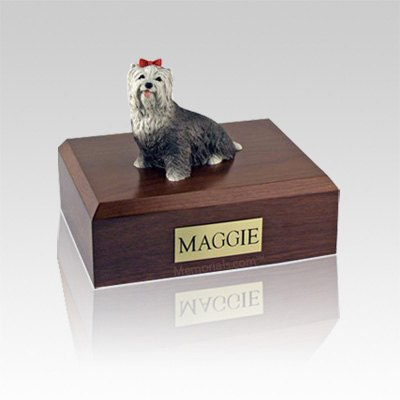 Yorkshire Terrier Gray Small Dog Urn