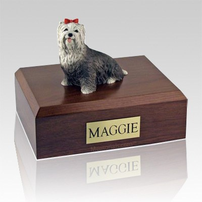 Yorkshire Terrier Gray X Large Dog Urn