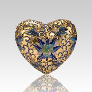 Gold Copper Heart Cremation Urn