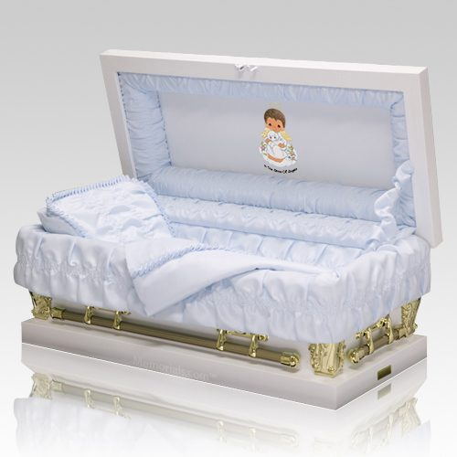 Precious Moments African American Boy Casket - Large
