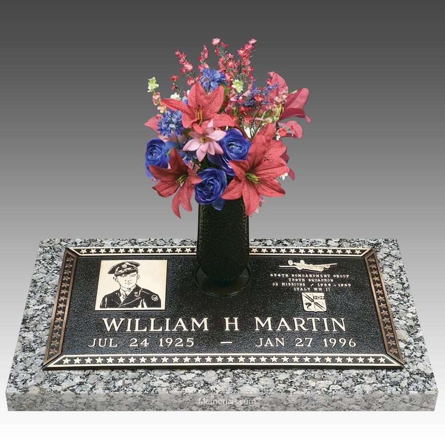Veteran Hero Individual Bronze Grave Marker II