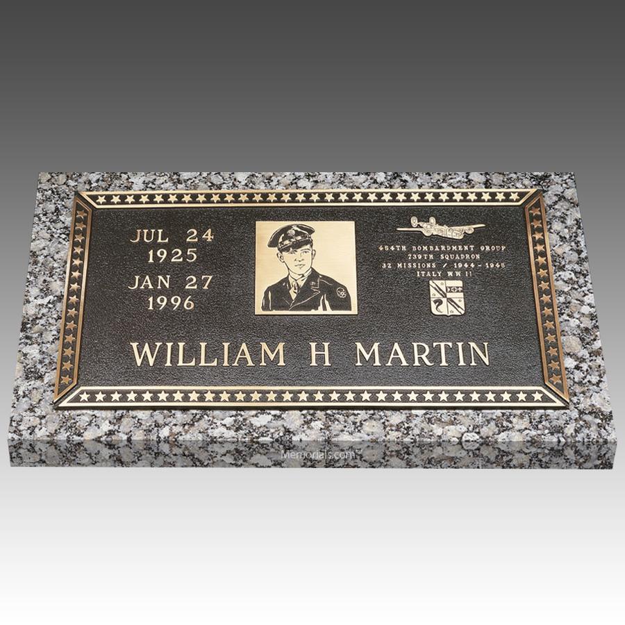 Veteran Hero Individual Bronze Grave Marker