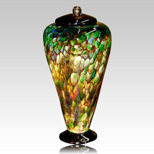 Amazon Green Glass Cremation Urn