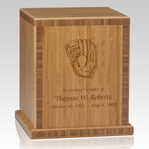 Glove Bamboo Caramel Cremation Urn