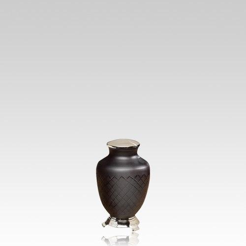 Baroque Glass Keepsake Urn